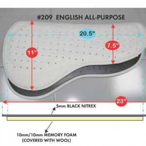 Cavallo Enhanced Performance Saddle Pad Size